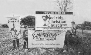 Ground Claiming Service for Noelridge Christian Church, October 16, 1994.
